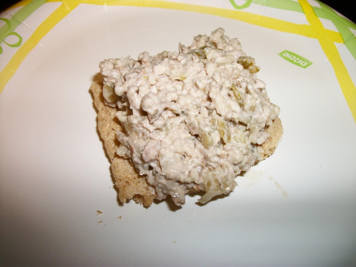 Raw Diet Mock Tuna made with walnuts.  Personal photo.