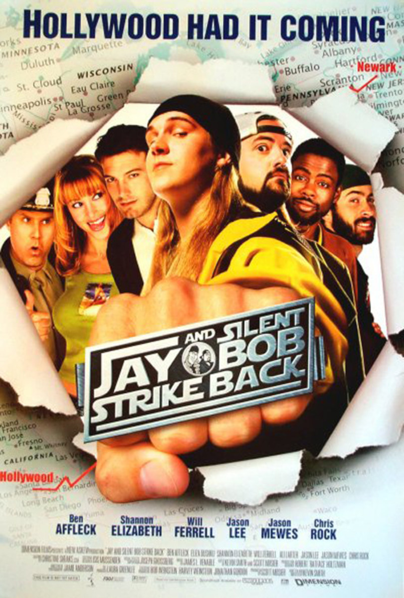 Cast: Jason Mewes Kevin Smith Shannon Elizabeth If theres one thing Kevin Smith carried through his many films, its the continuity of lazy stoners Jay and Silent Bob. The pair of slackers are featured in their own adventure in Jay and Silent Bob Stri