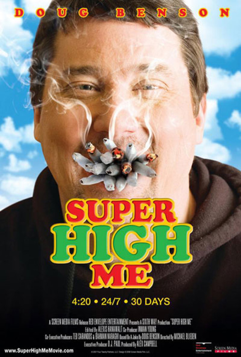 Cast: Doug Benson Super High Me takes Morgan Spurlocks concept of eating McDonalds for 30 days straight and replaces burgers and fries with pot. Comedian Doug Benson tackles this documentary head-on, first avoiding pot for 30 days before taking on th