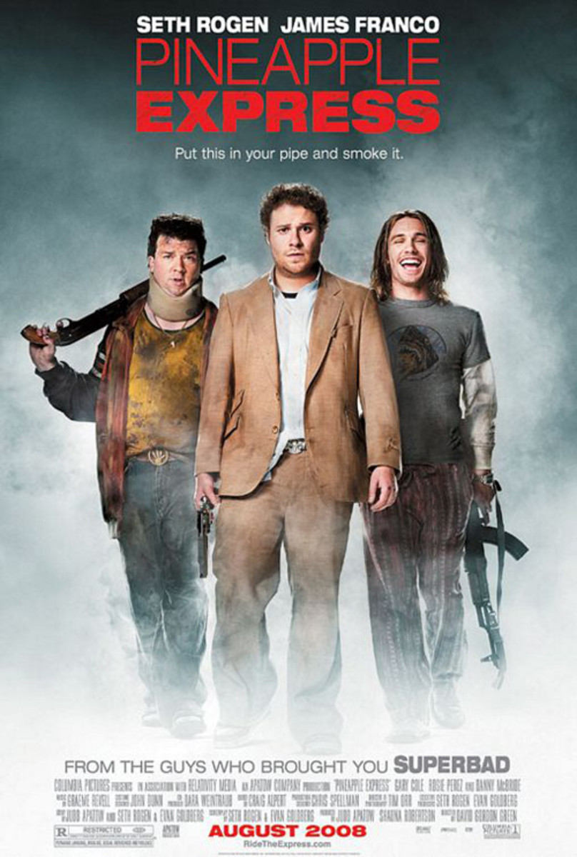Cast: Seth Rogen James Franco Gary Cole Rosie Perez Danny McBride Just released this week, Judd Apatows Pineapple Express is part stoner buddy comedy, part action flick,  but guaranteed to deliver laughs as it follows dealer and pothead in an unlikel