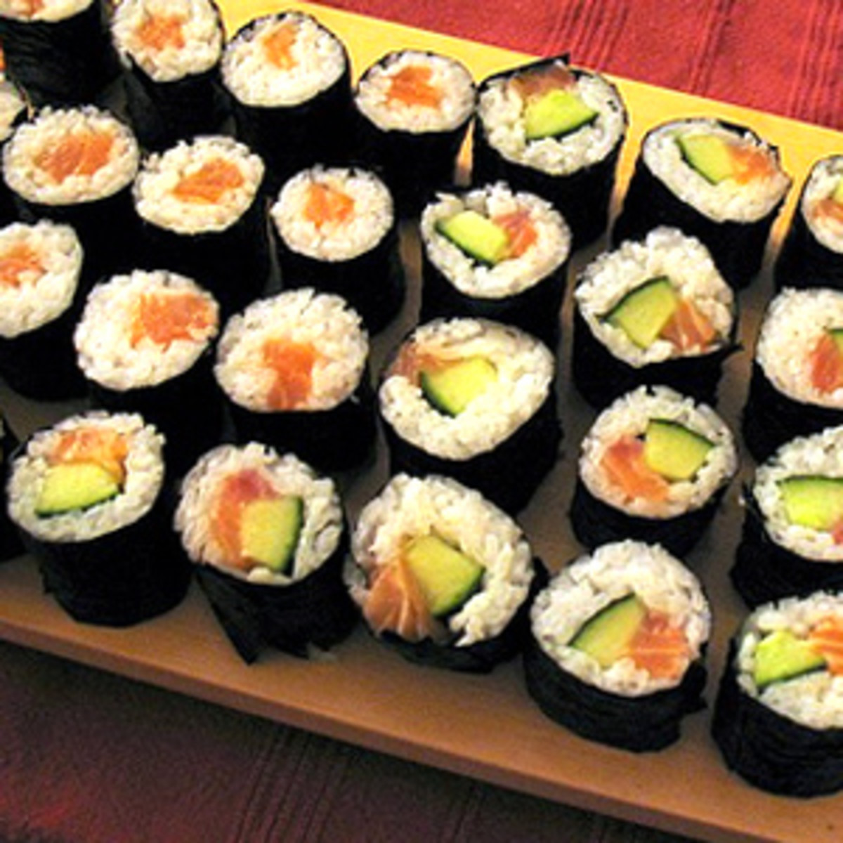 how to prepare sushi rolls at home hubpages. Black Bedroom Furniture Sets. Home Design Ideas