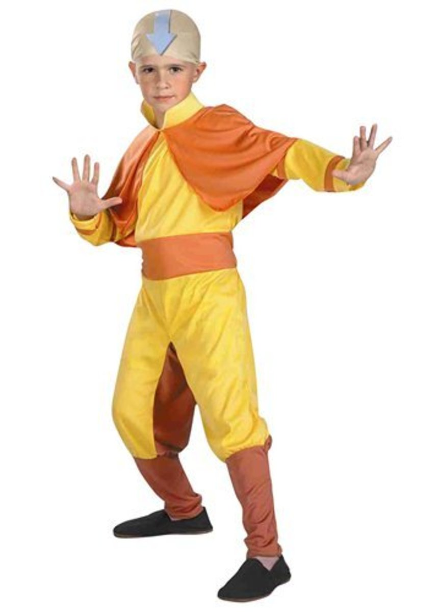 Avatar The Last Airbender Costumes: Aang, Katara, Sokka, and Zuko Costumes For Halloween