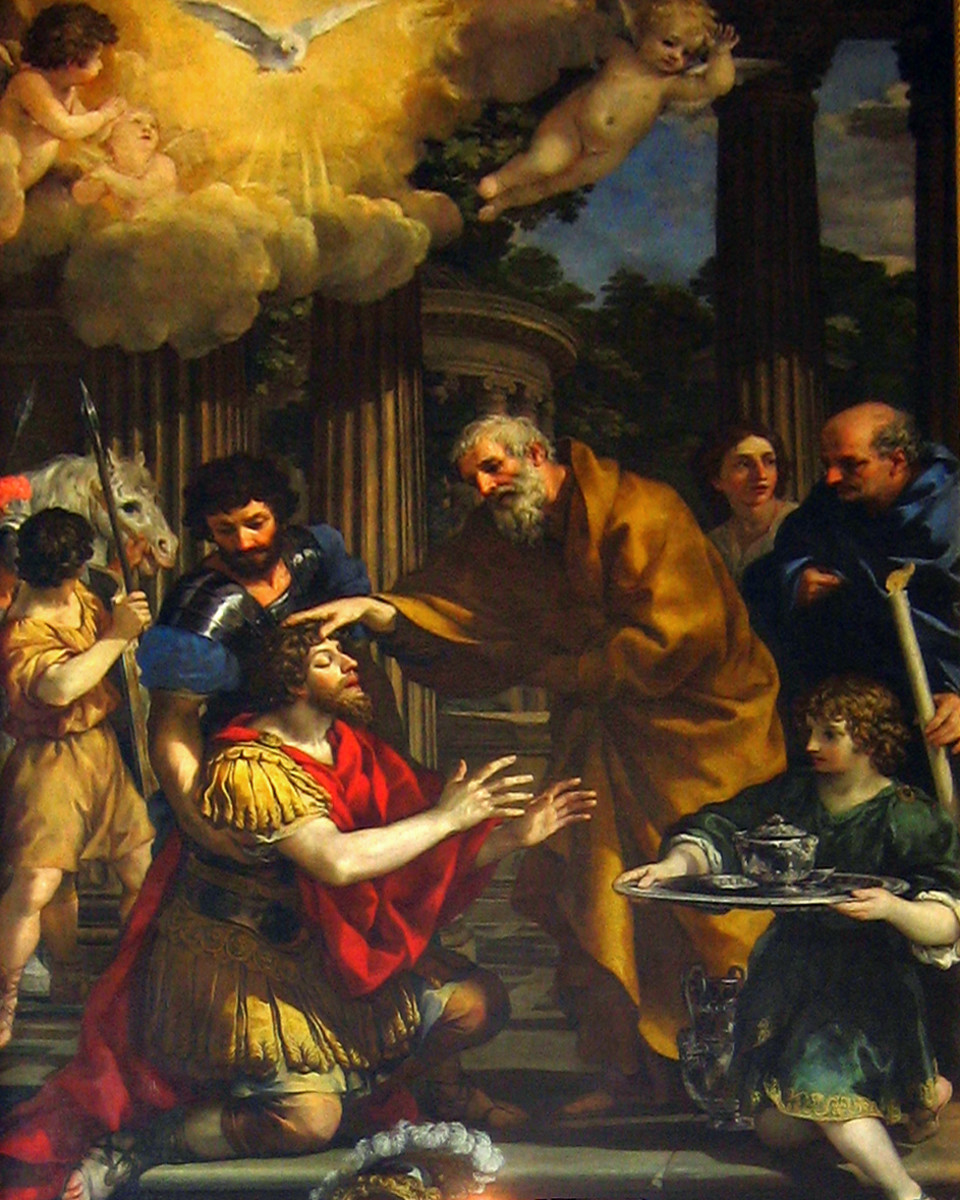 Ananias Restoring the Sight of St. Paul / Pietro da Cortona (ca. 1631)