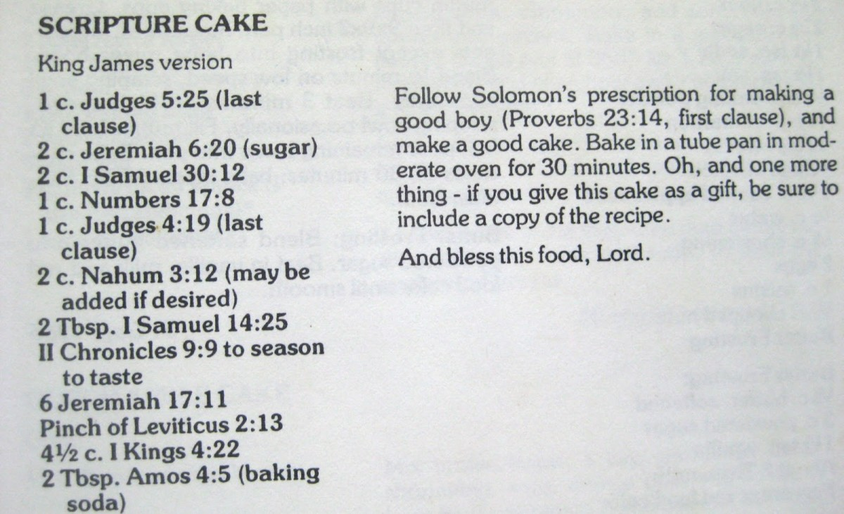 Our Lord's Scripture Cake Recipe