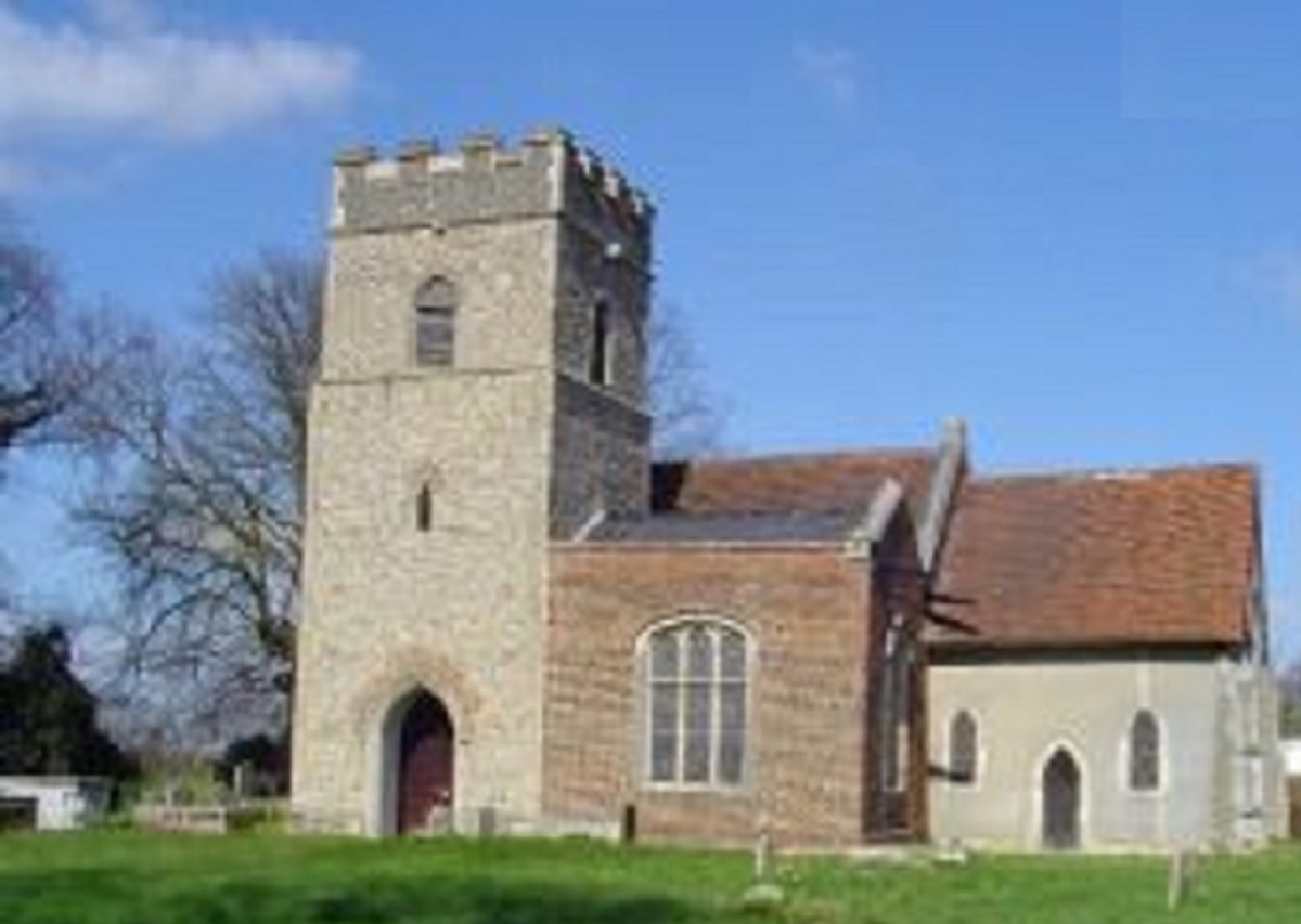 St Mary's Church Suffolk. A typical Norman church built upon the older Anglo-Saxon wooden site.
