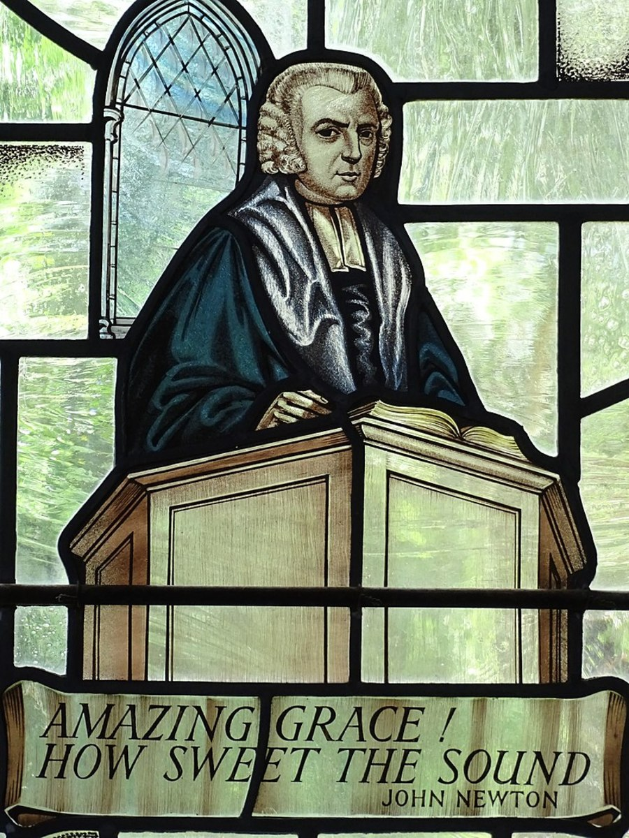 Stained-Glass Image of John Newton - Amazing Grace Writer - St. Peter and Paul Church - Olney - Buckinghamshire - England - 02 (27656254594).jpg Created: 11 July 2016