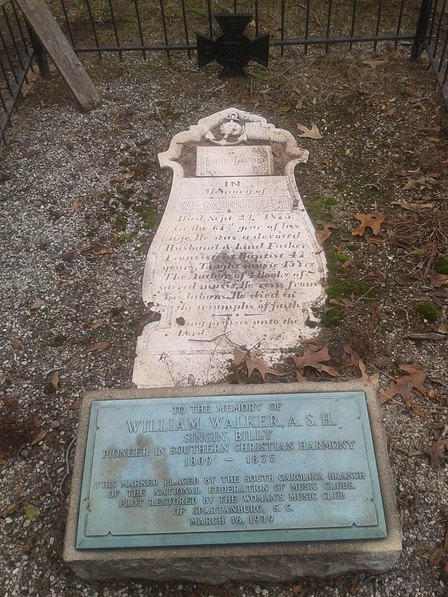 Grave of composer William Walker in Magnolia Street Cemetery, Spartanburg, SC