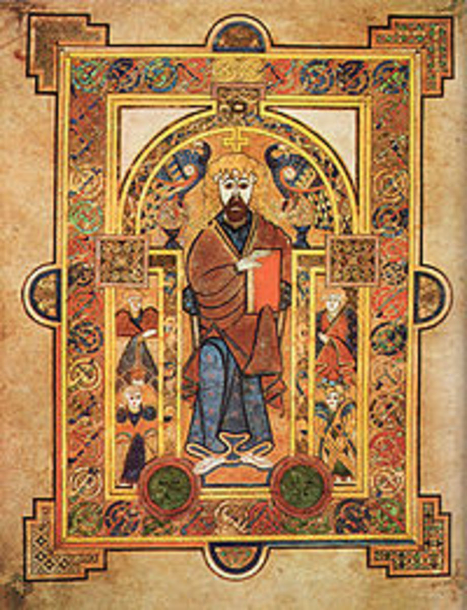 From the Book of Kells. The Life of Christ.