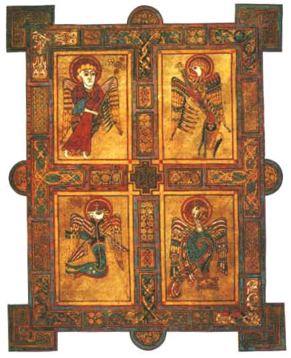 From the Book of Kells. The four apostles.