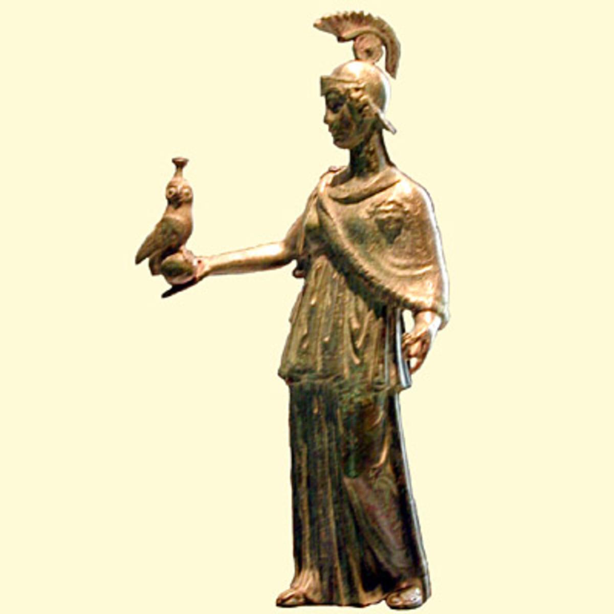 Minerva, goddess of sacred groves.