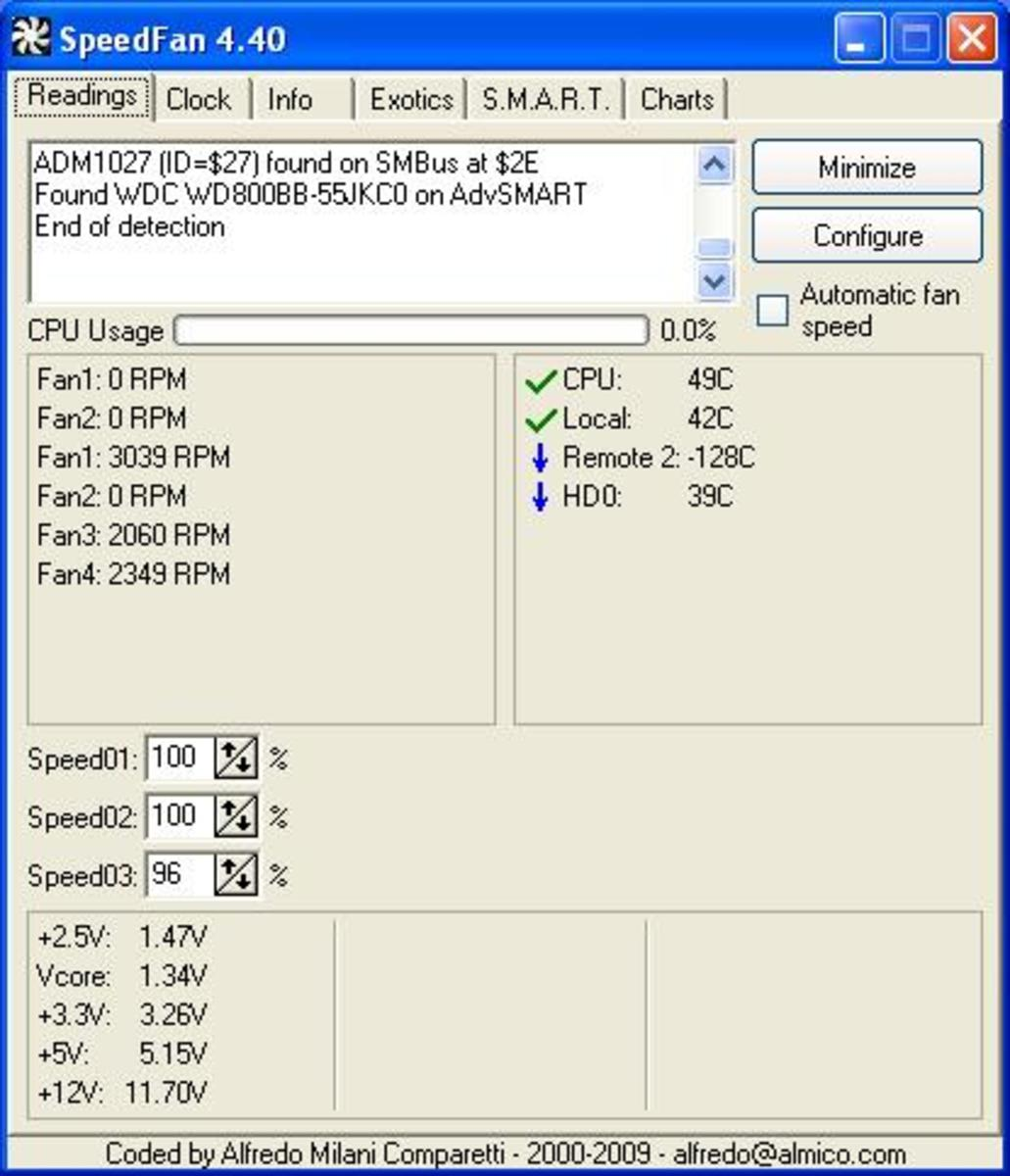 How to check CPU temperature speedfan