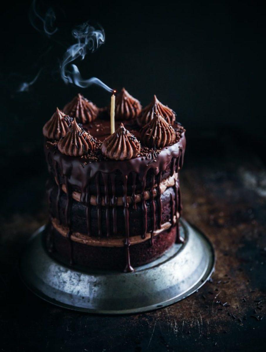 Decadent Dark Chocolate Cake