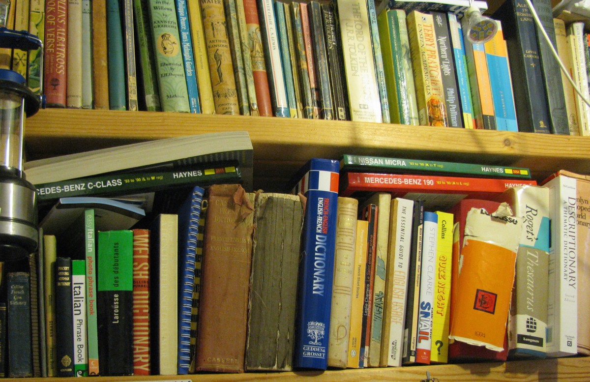 Shelves Full of Books, from A A Milne's 'Winnie-the-Pooh- to Thor Heyerdahl's 'Kon-Tiki Expedition'