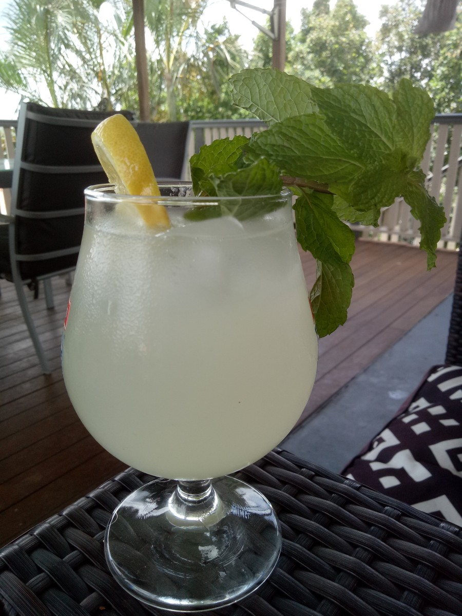 Homemade Lemonade, the old fashioned way. Serve with ice and mint for a refreshing drink!