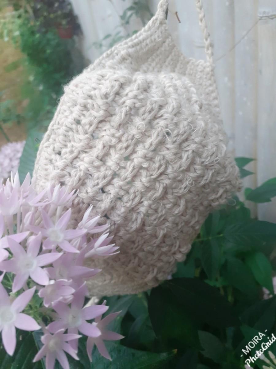 Crochet Mini-Basketweave Face Mask