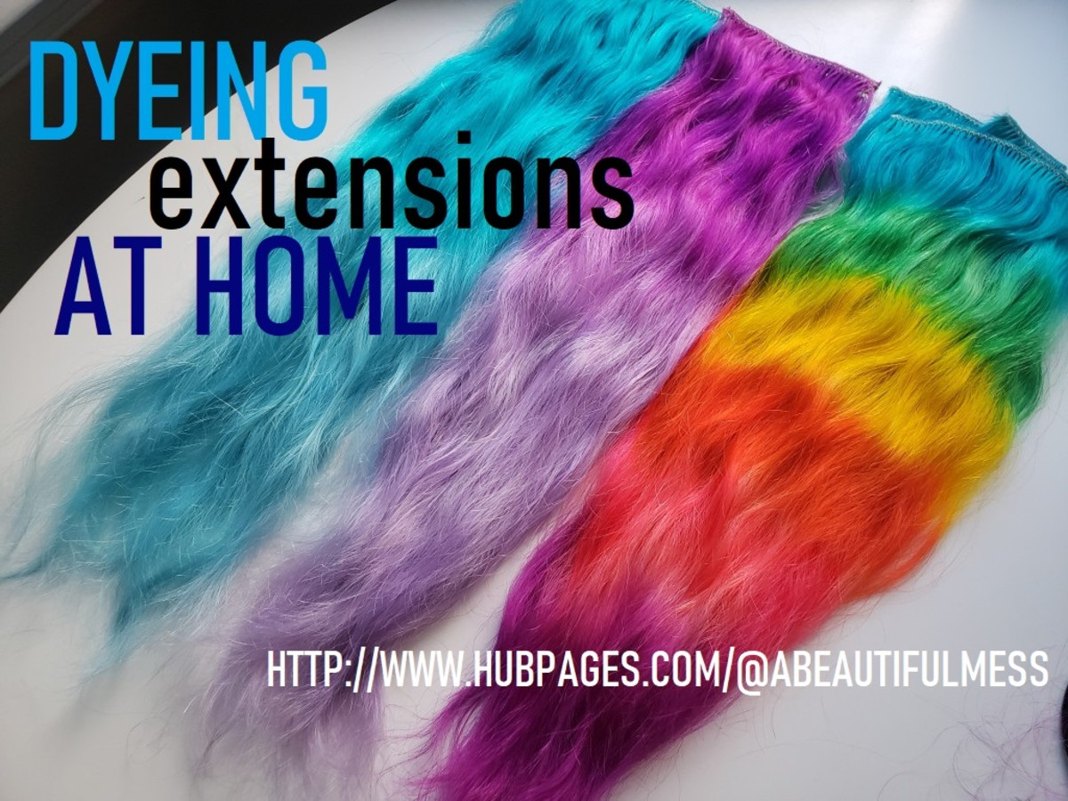 DIY Hair: Dyeing Hair Extensions At Home