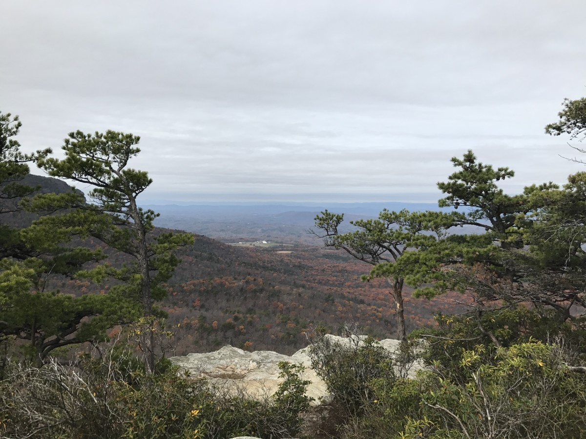Only part of the panoramic view from the top of Hanging Rock.