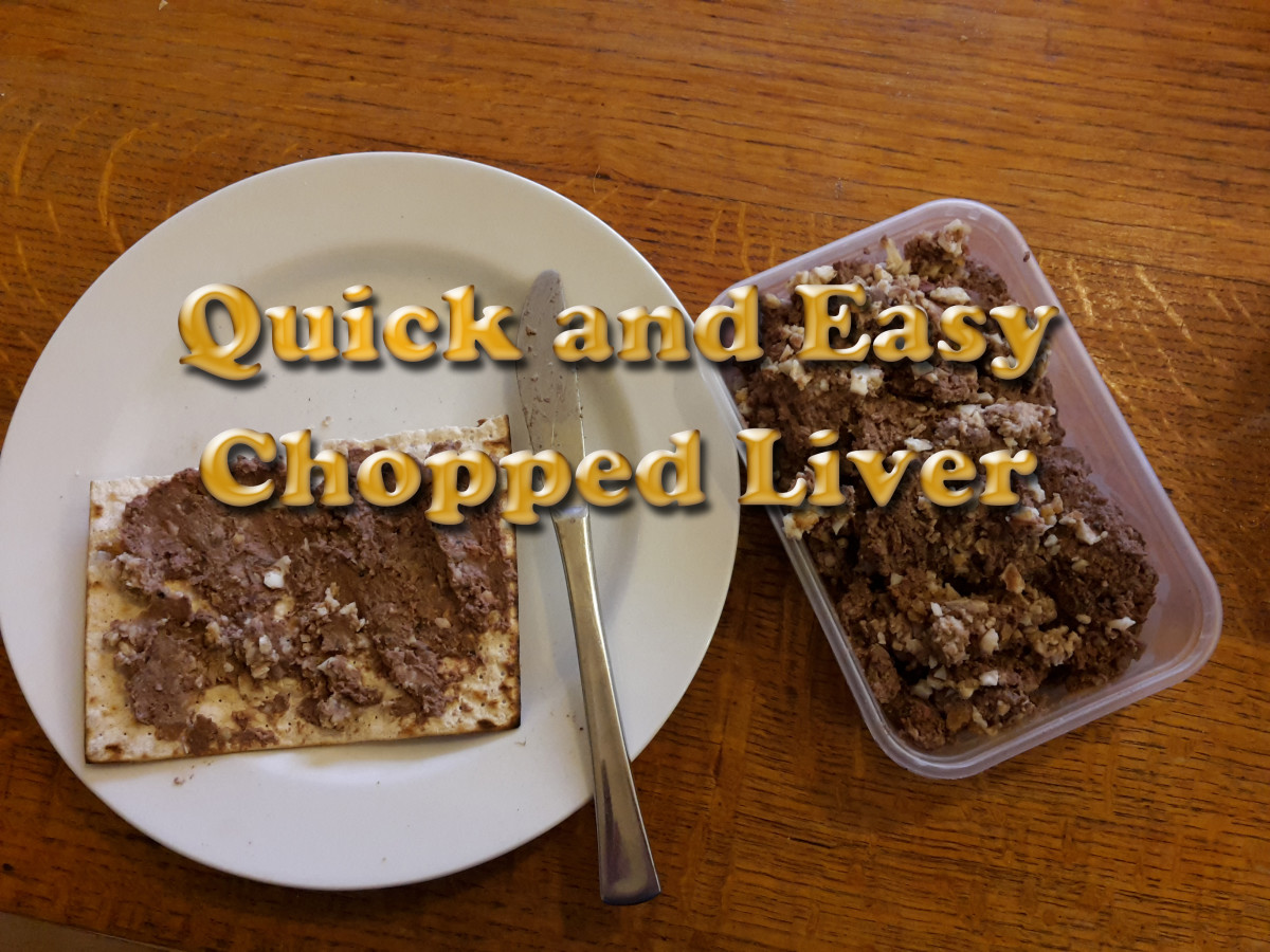 Chopped Liver - Jewish Recipe Quick and Easy to Prepare Using Chicken Liver