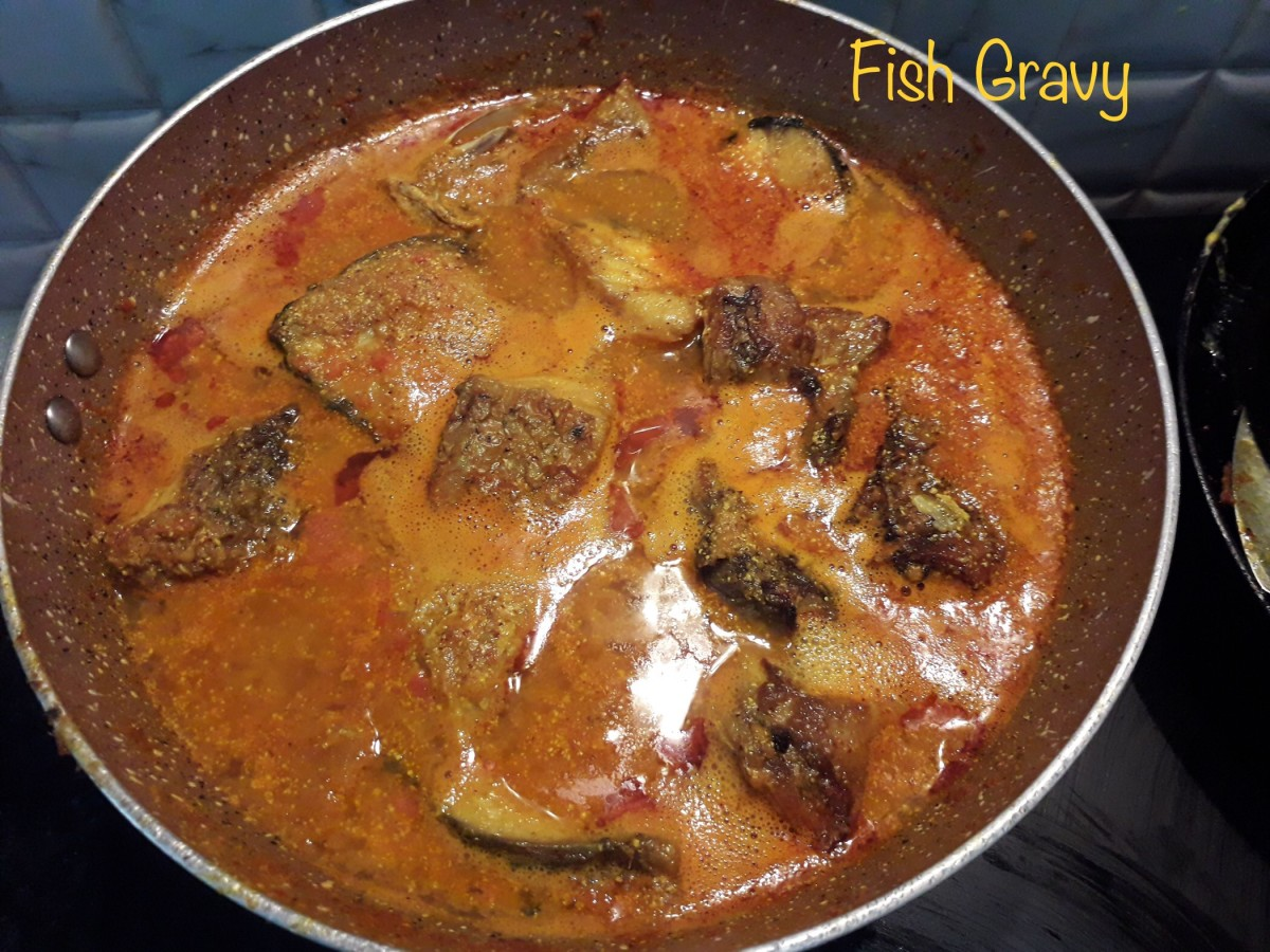 Rohu fish in mustard gravy, served hot with boiled rice