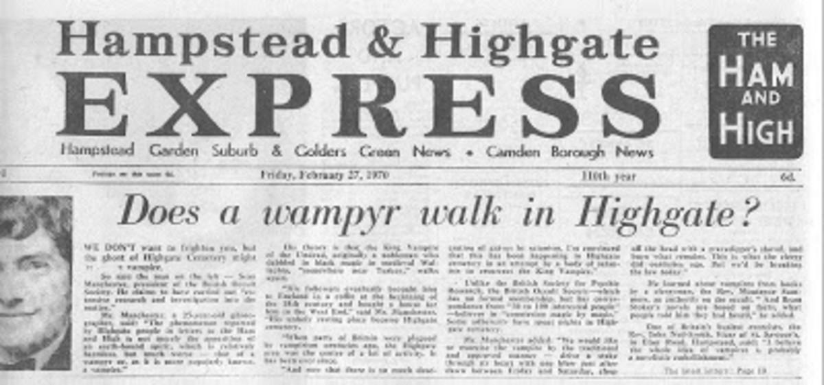Highgate Vampire Newspaper Story