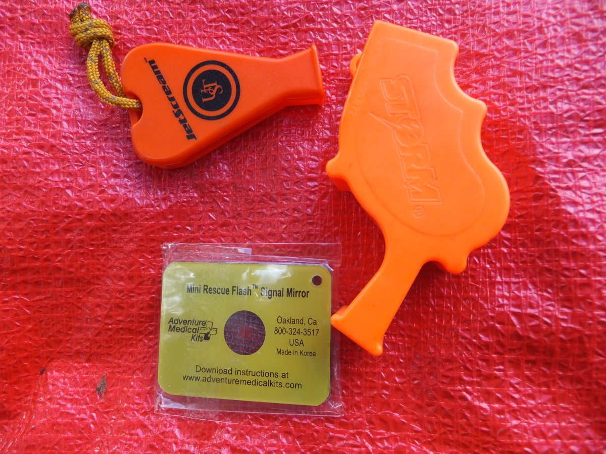 Carry a few signaling options with you, whistles are great ways to attract attention.