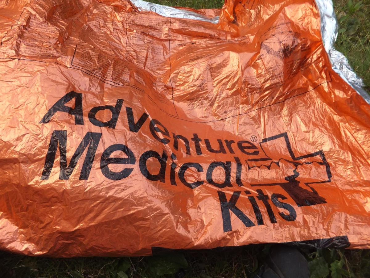 The Adventure Medical Heat Sheet can even be used as a tarp.