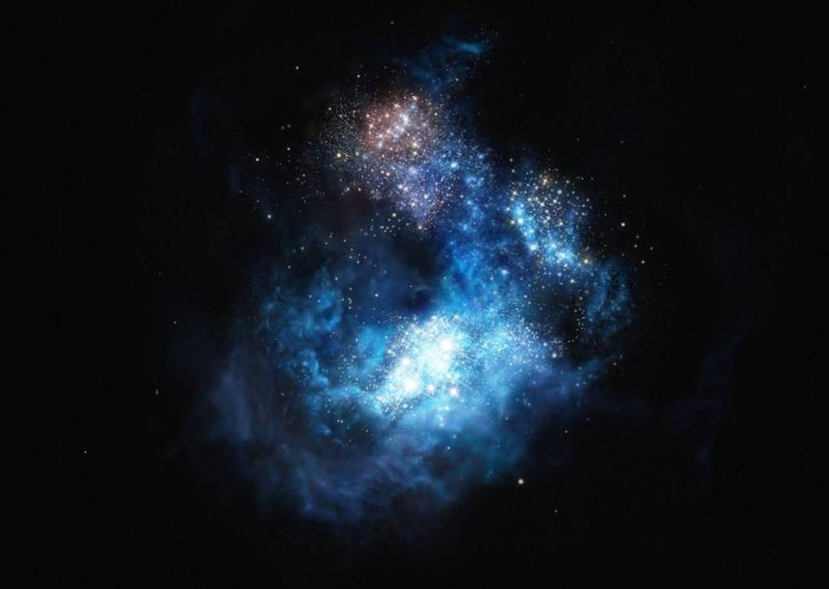 A picture of the CR7 galaxy named after Cristiano Ronaldo