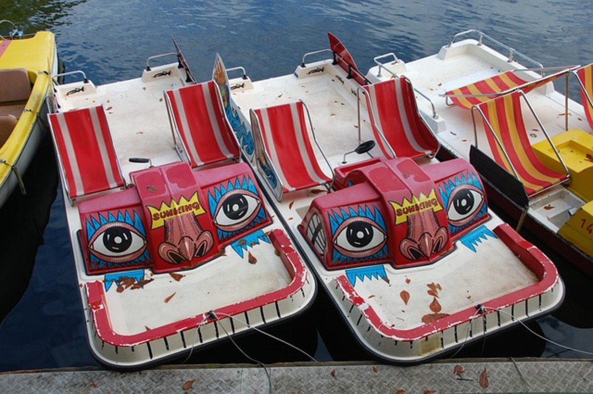 Unusual Pedal Boats Painted in Bright Colors