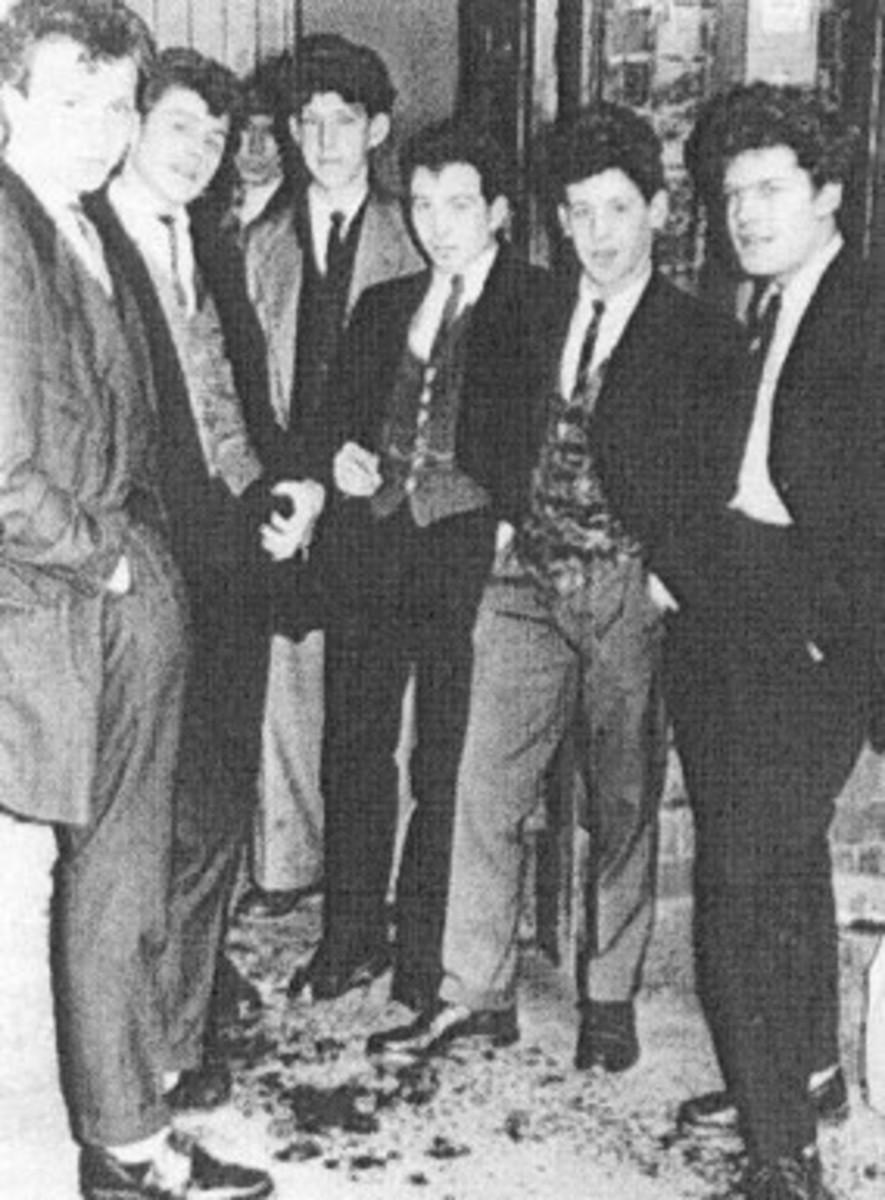 Teddy Boys from the 1950's