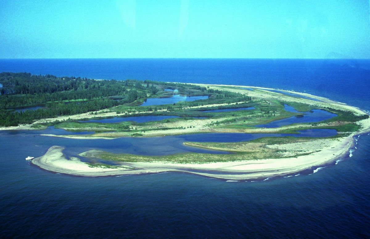 Part of Presque Isle near historic sites in Erie, Pennsylvania.