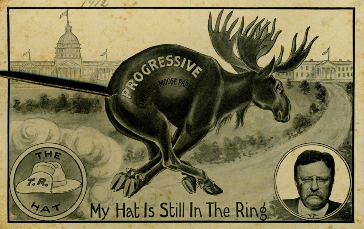 My Hat Is Still In The Ring, 1912 (Theodore Roosevelt) - Springtail Postcard
