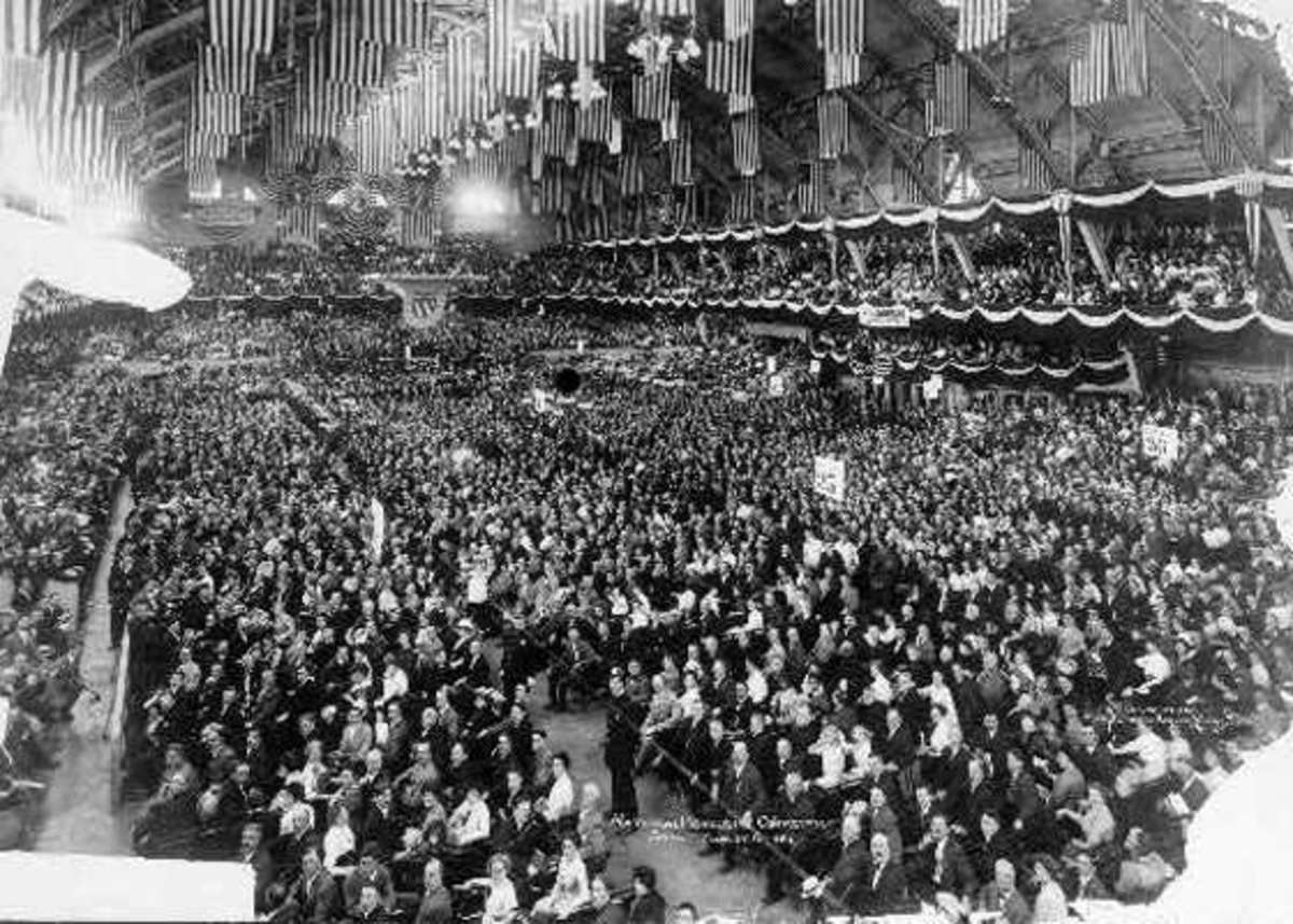 1912 National Progressive Convention at the Chicago Coliseum.