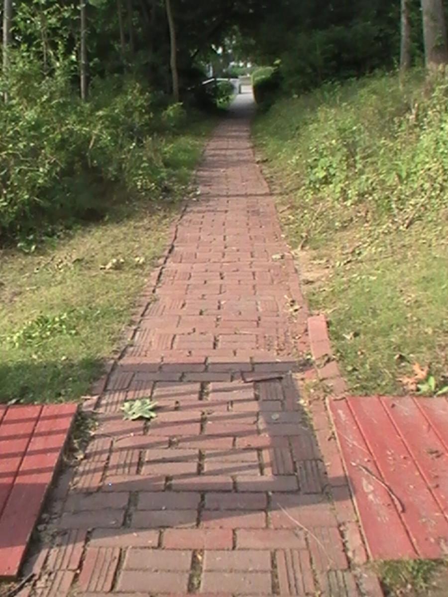 Geneva Lake Pathway - red brick