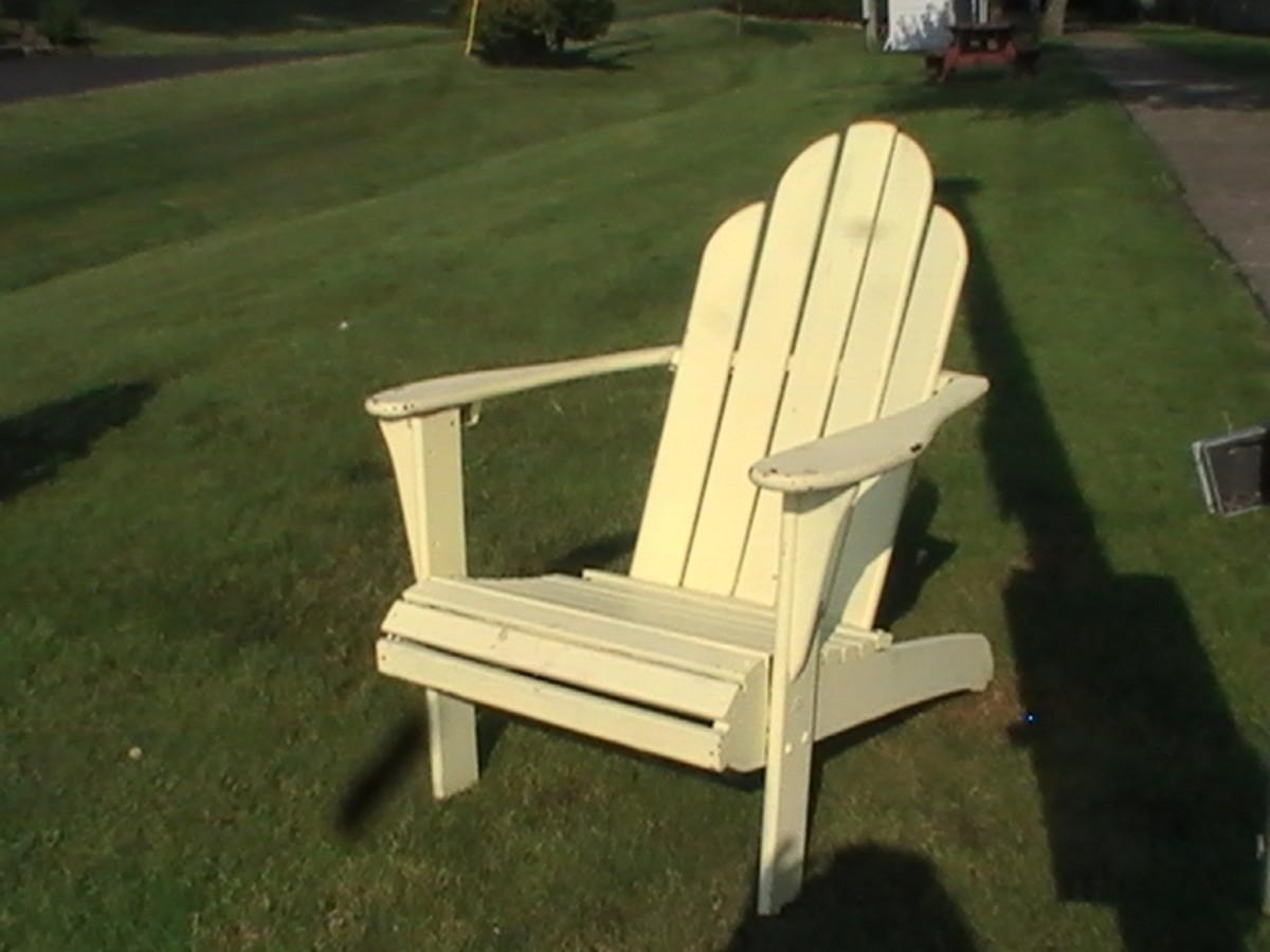 classic Adirondack chair found along the Geneva Lake Pathway