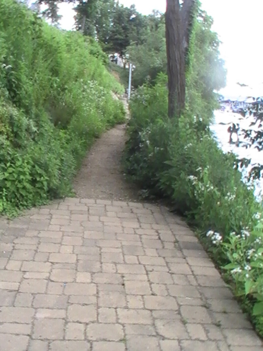 Geneva Lake Pathway - formal stone pathway - wide and even
