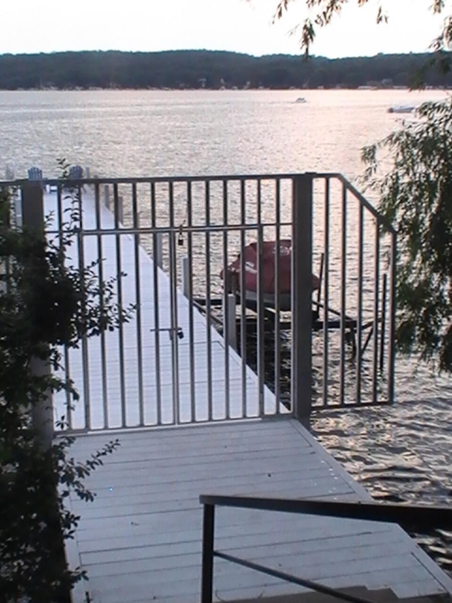 Gate along Geneva Lake pathway.