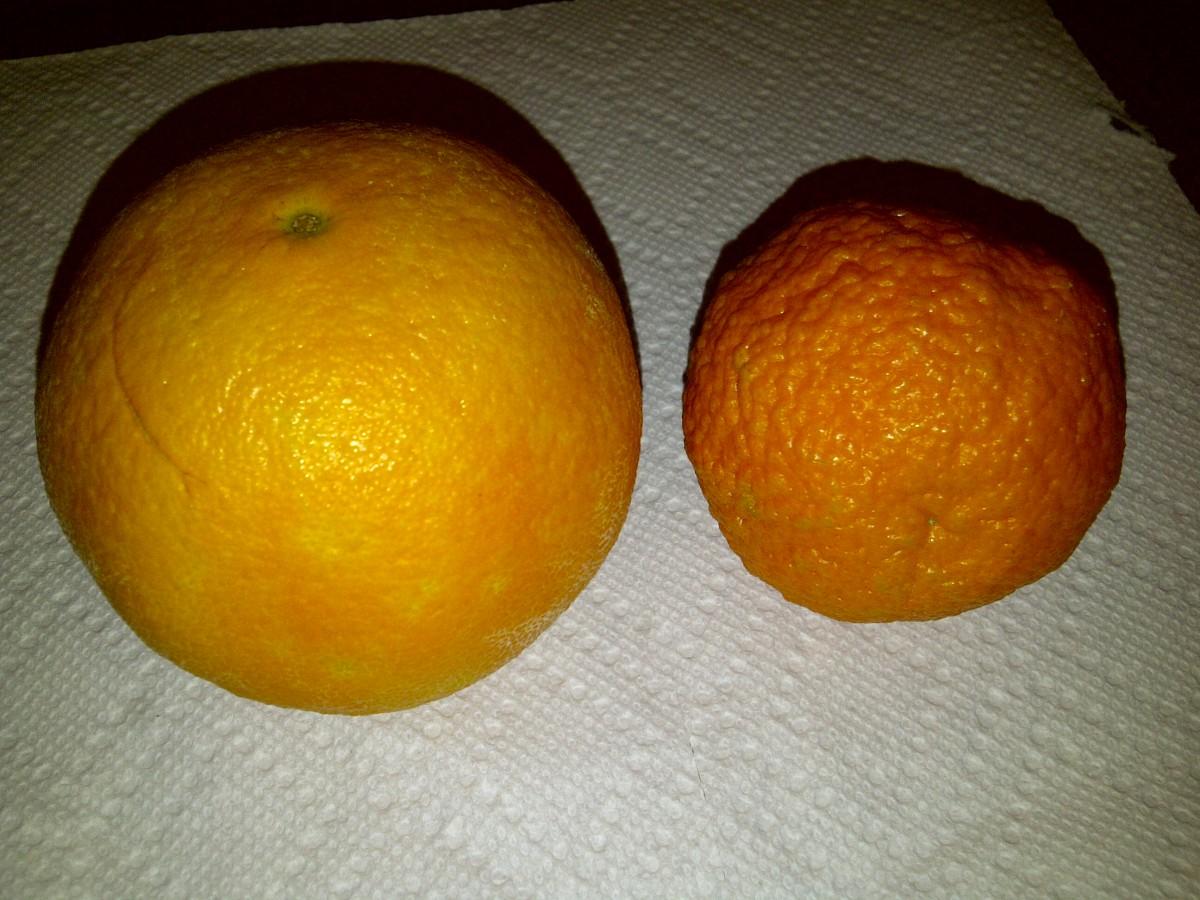 Orange (left) vs Clementine (right)