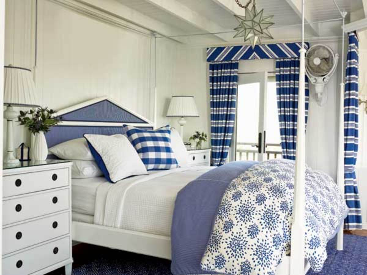Blue and white is a favorite color of many beach homes.