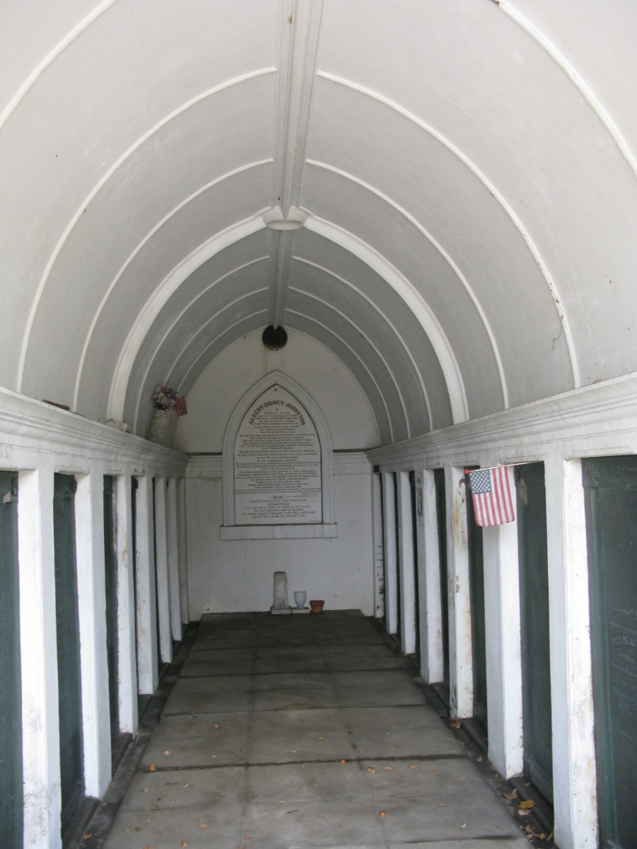 Inside the tumulus