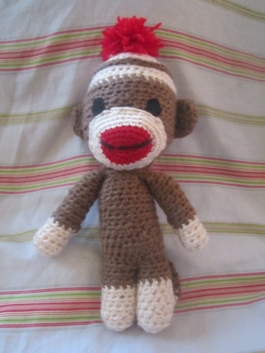 Free Crochet Pattern Sock Monkey Hat For Baby : Free Crochet Sock Monkey Patterns Free Crochet Sock Monkey ...