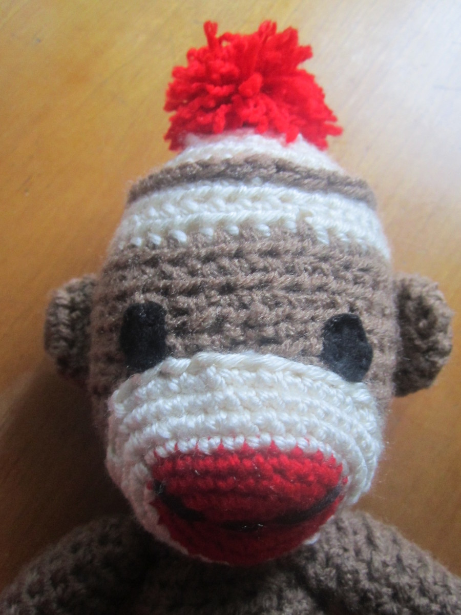 Sock Monkey Head