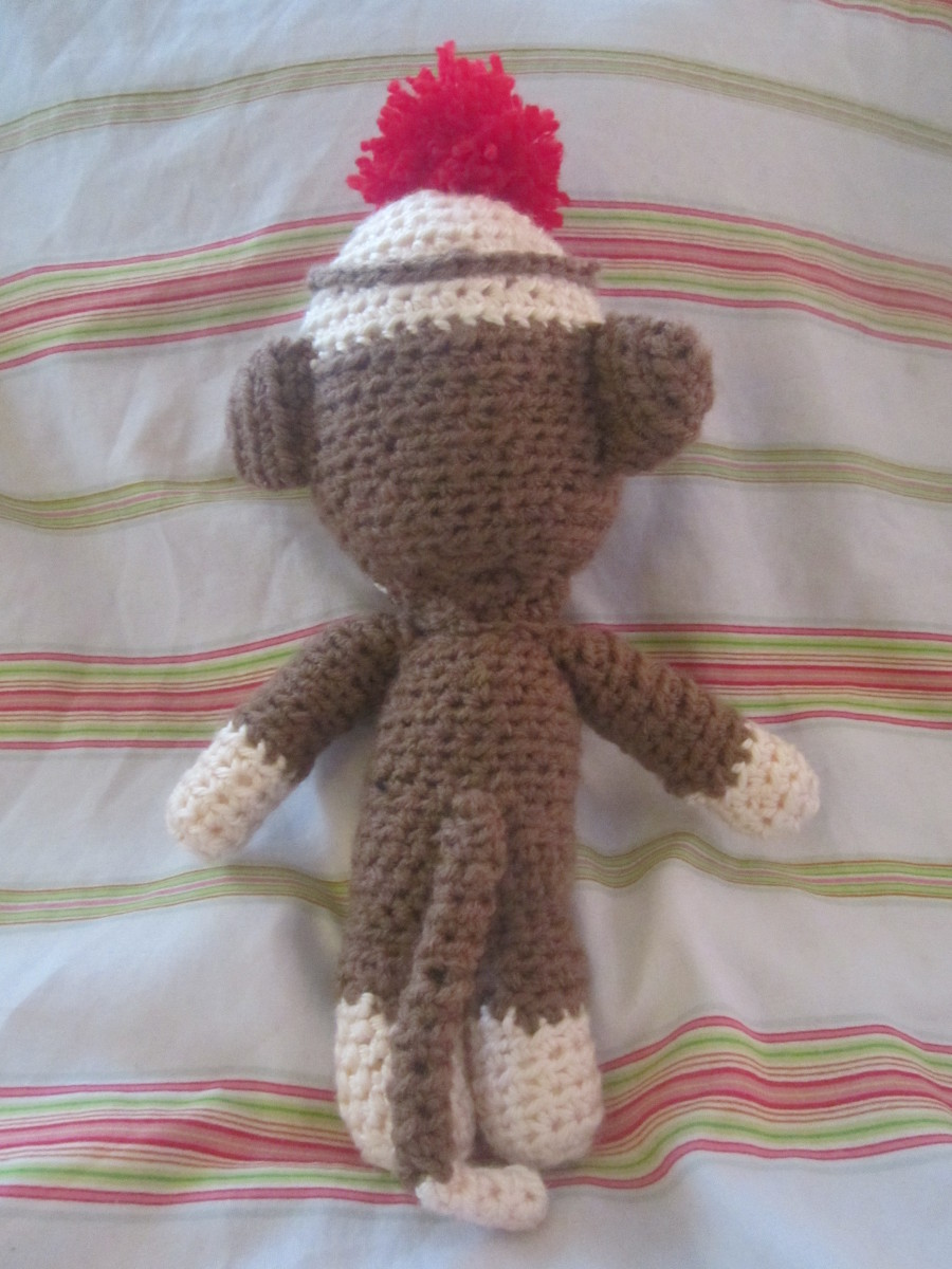 Crochet Sock Monkey Back