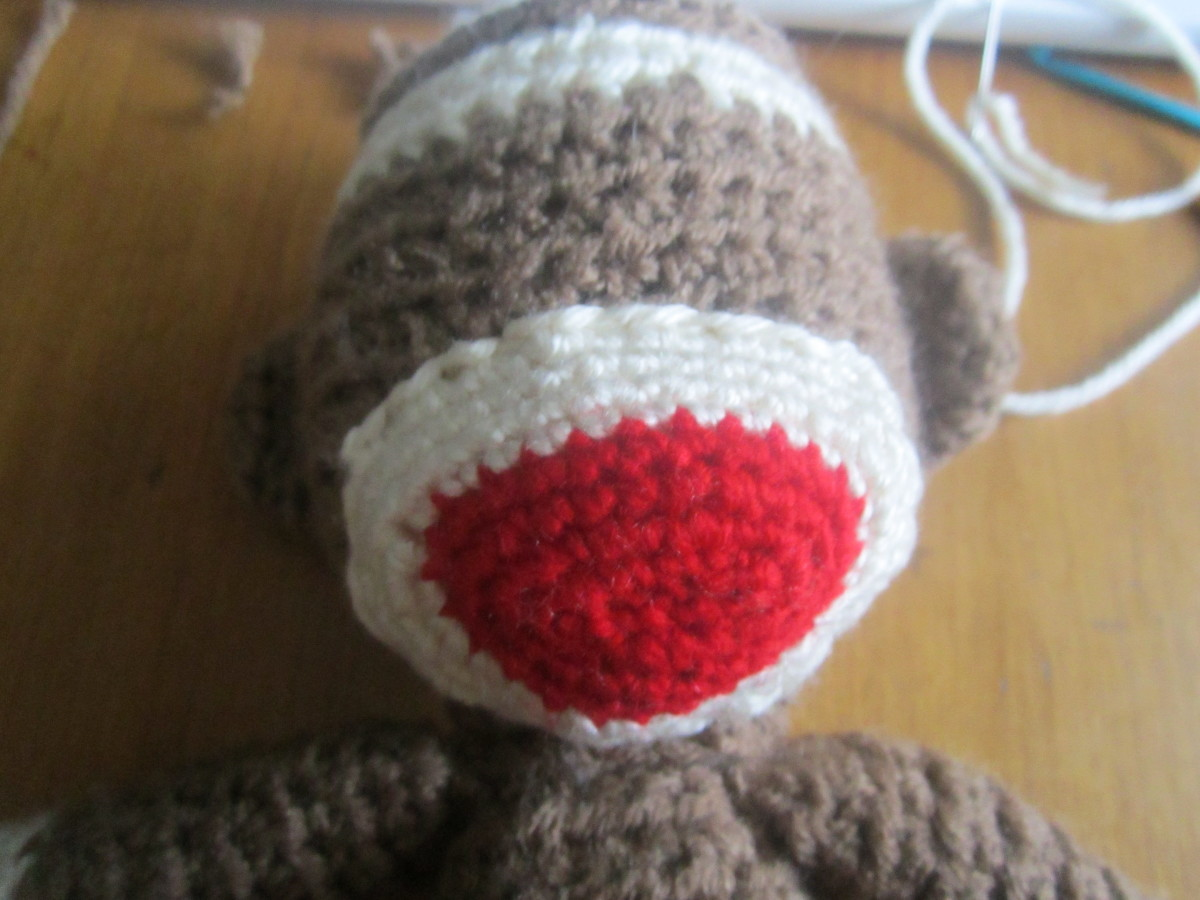 Sock Monkey mouth