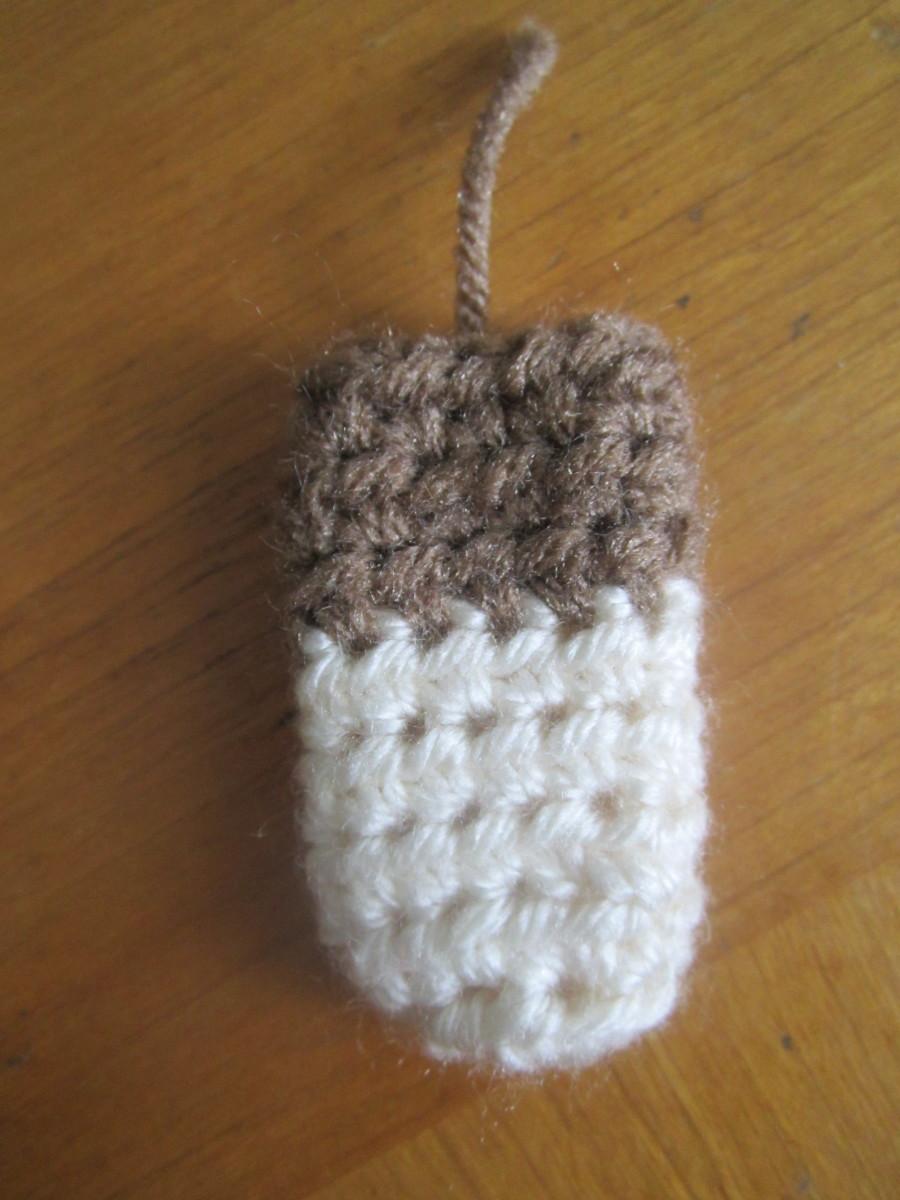 Crochet Sock Monkey Leg