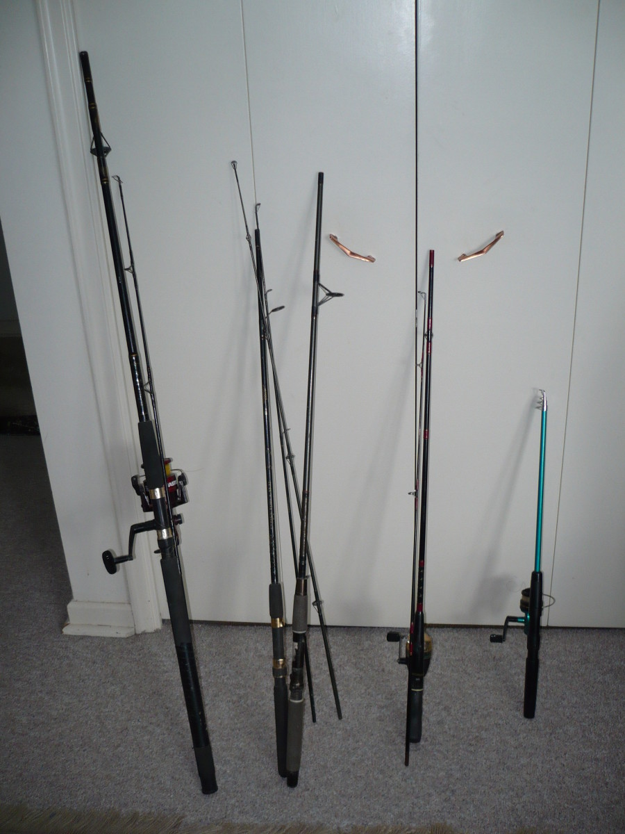 Most rods come apart in the middle for easy travelling.