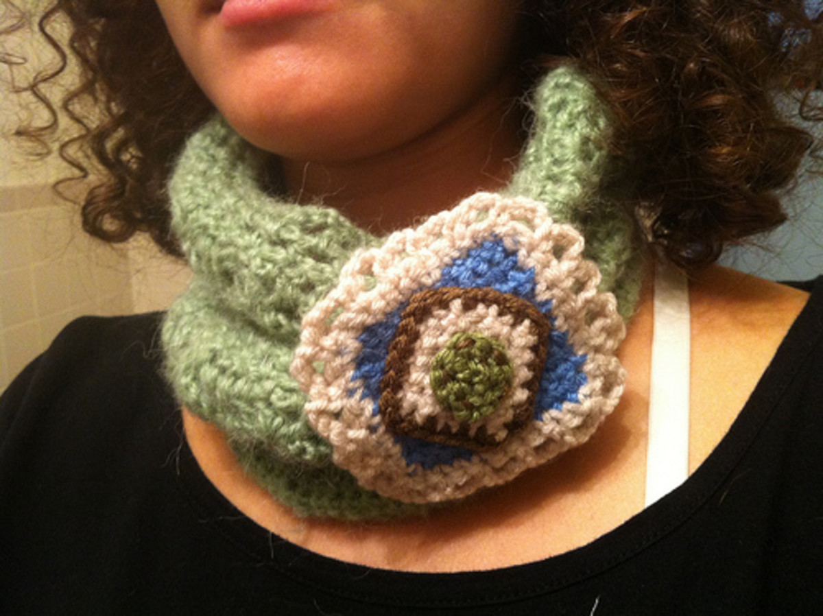 Abstract Crochet Brooch