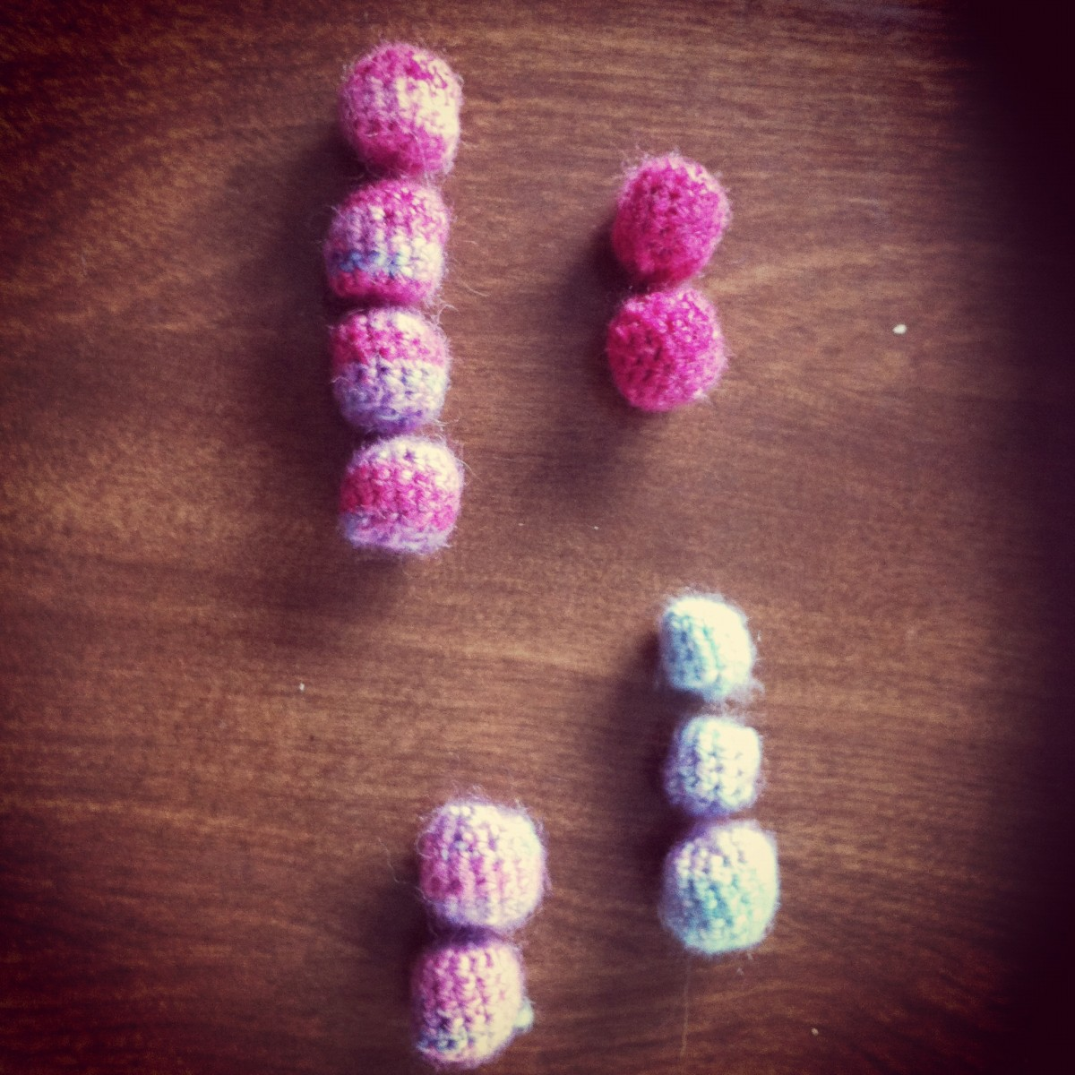 Crocheted beads