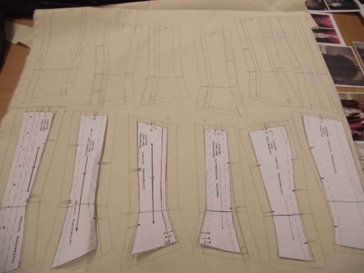 Lay the pattern pieces and trace carefully.