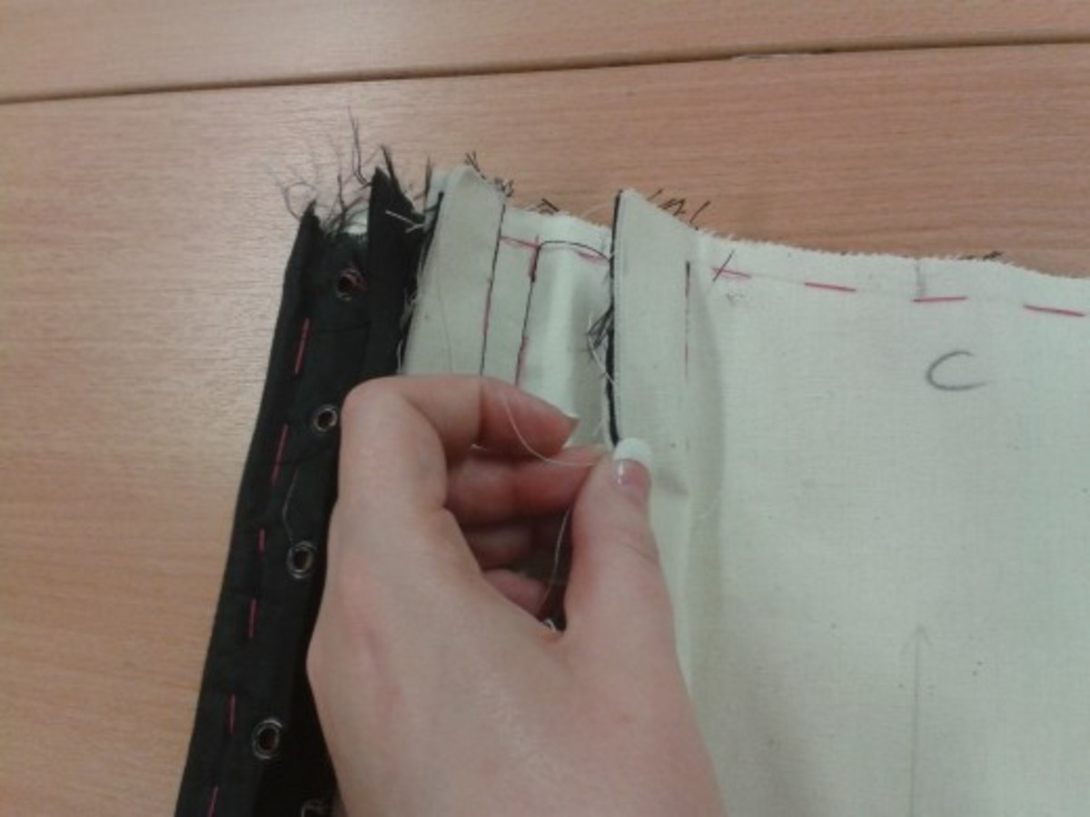 Line up edges & use notches to ensure they match before sewing