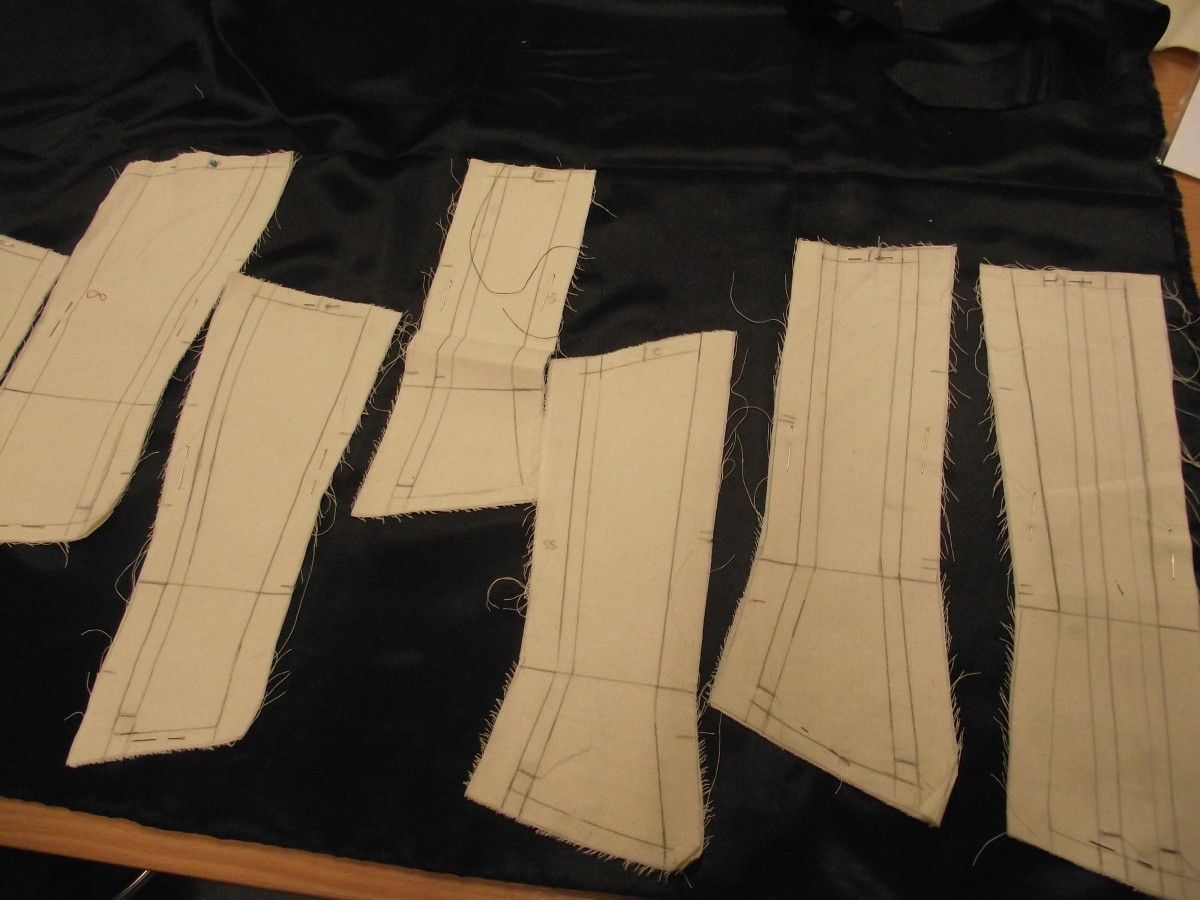 "lay panels onto outer fabric...with the ""right"" side down... and pin together"